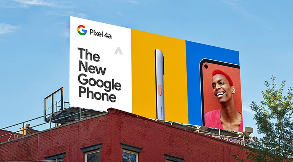 Google Pixel 4a pre launch billboard 1