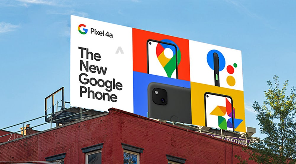 Google Pixel 4a pre launch billboard 2