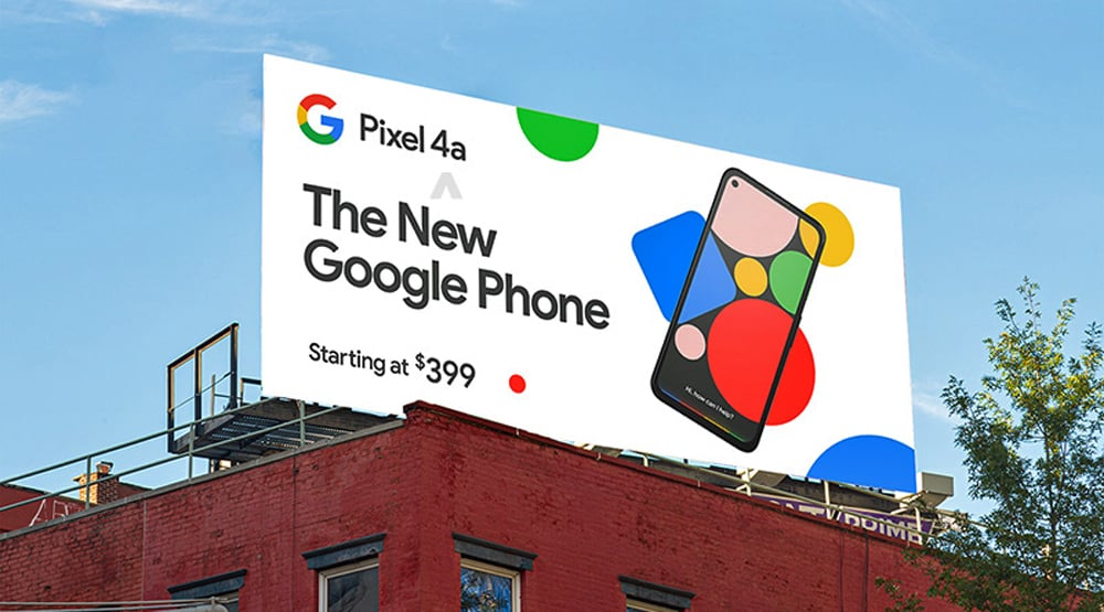 Google Pixel 4a pre launch billboard 3