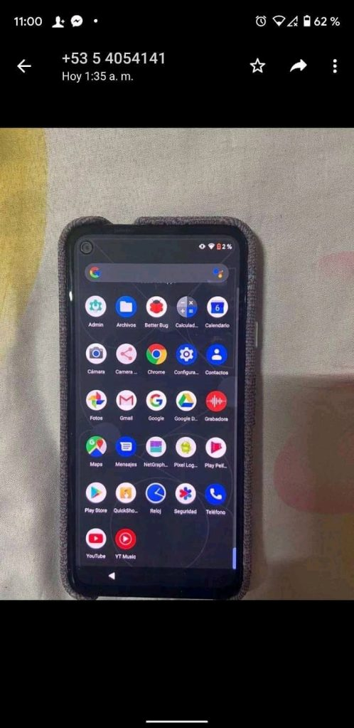 Google Pixel 4a real life image leak with Fabric case 1