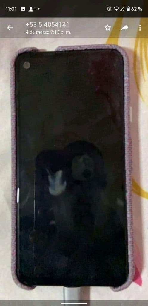 Google Pixel 4a real life image leak with Fabric case 5