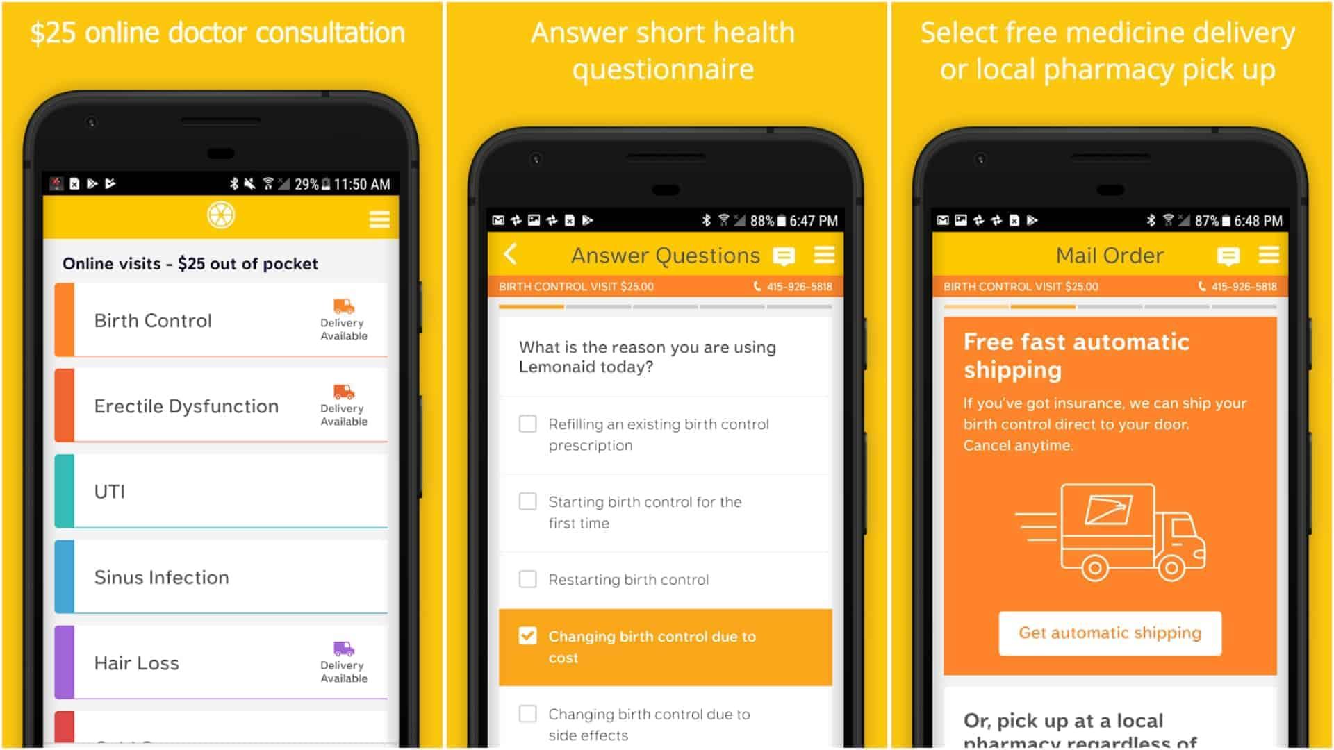 Lemonaid Health app image March 2020