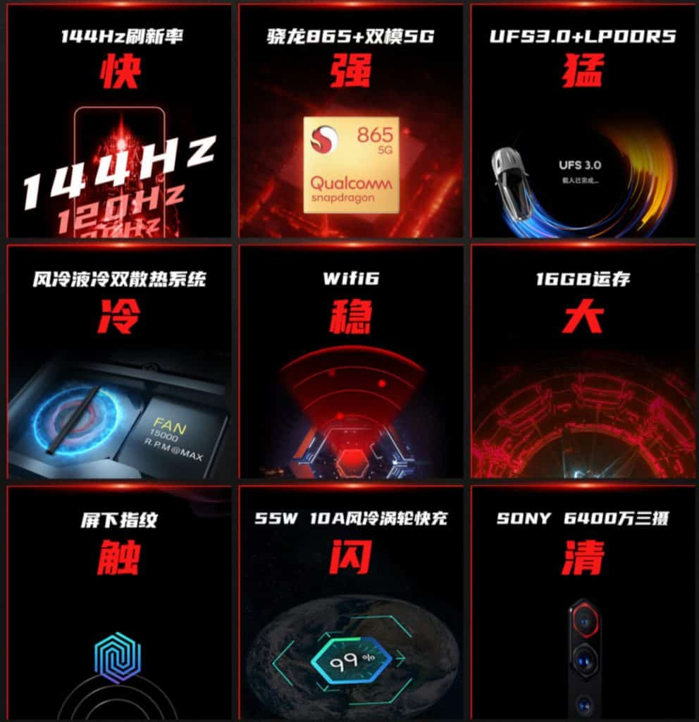 Nubia Red Magic 5G teasers