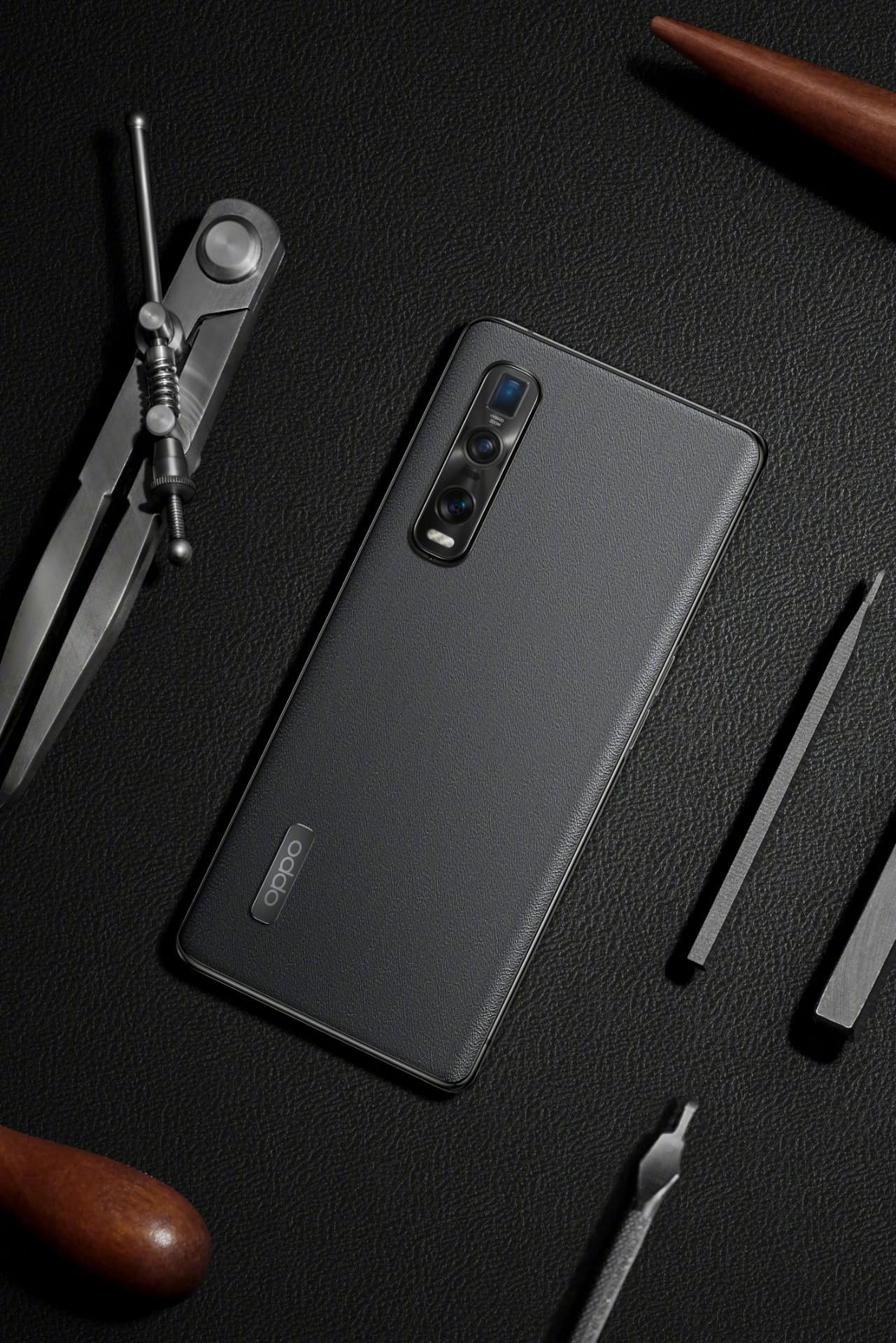 OPPO Find X2 Pro Vegan Leather Gray 2