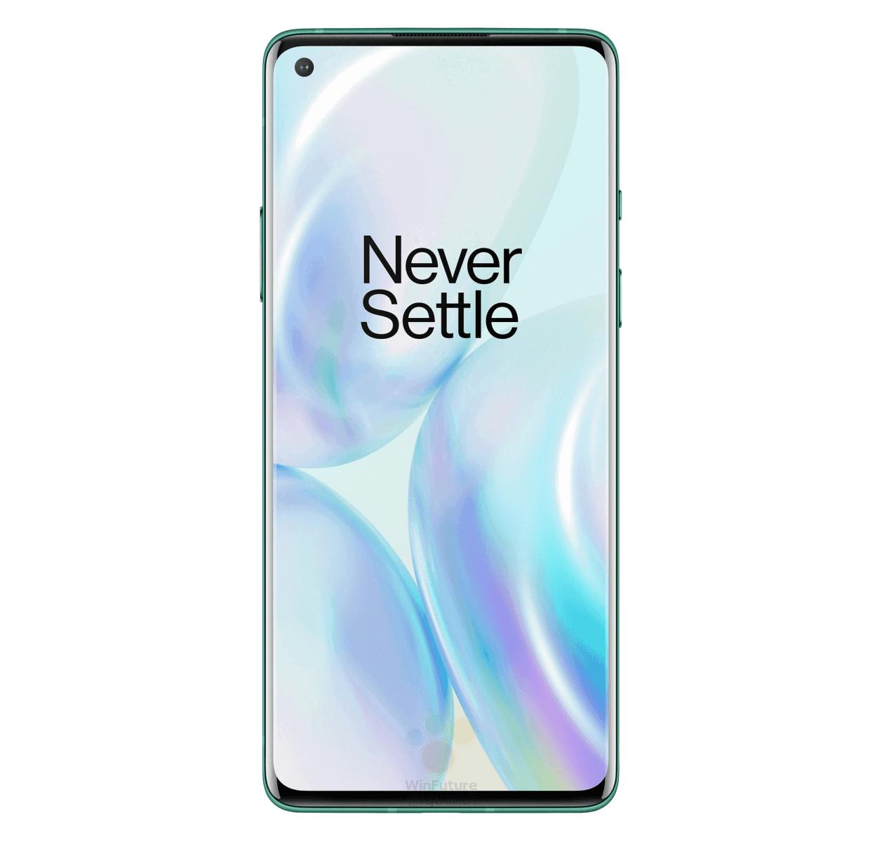 OnePlus 8 Glacial Green render leak 5
