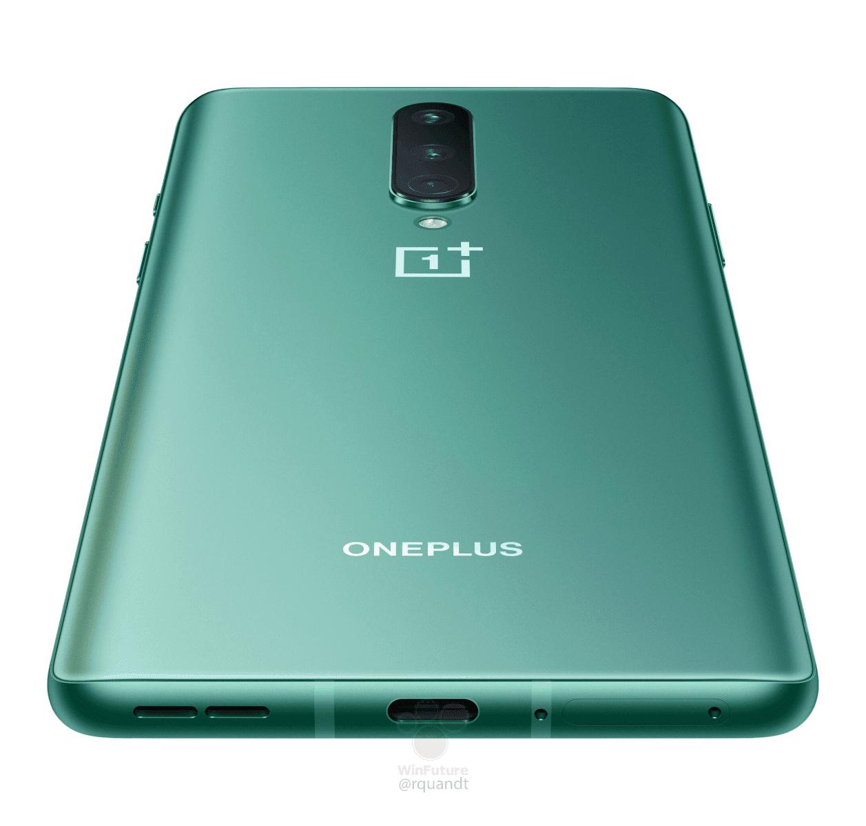 OnePlus 8 Glacial Green render leak 7