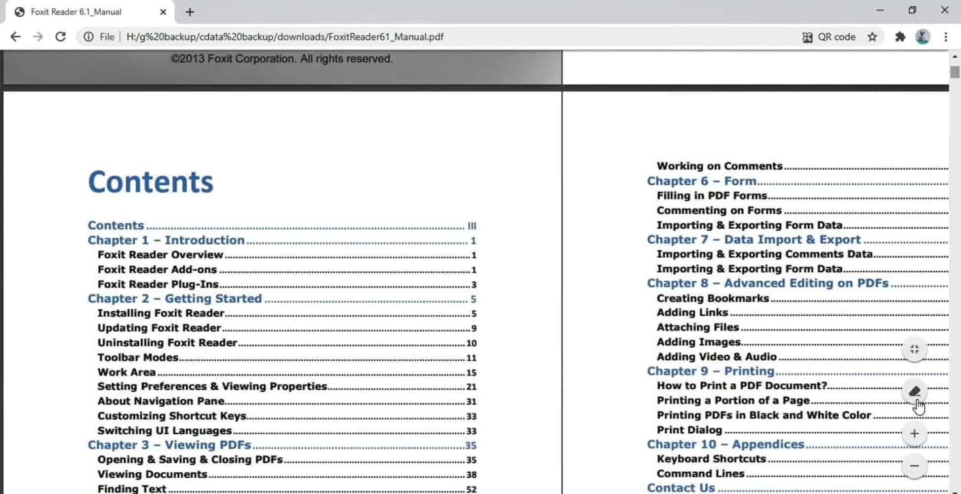 PDF in two page view Chrome from TechDows