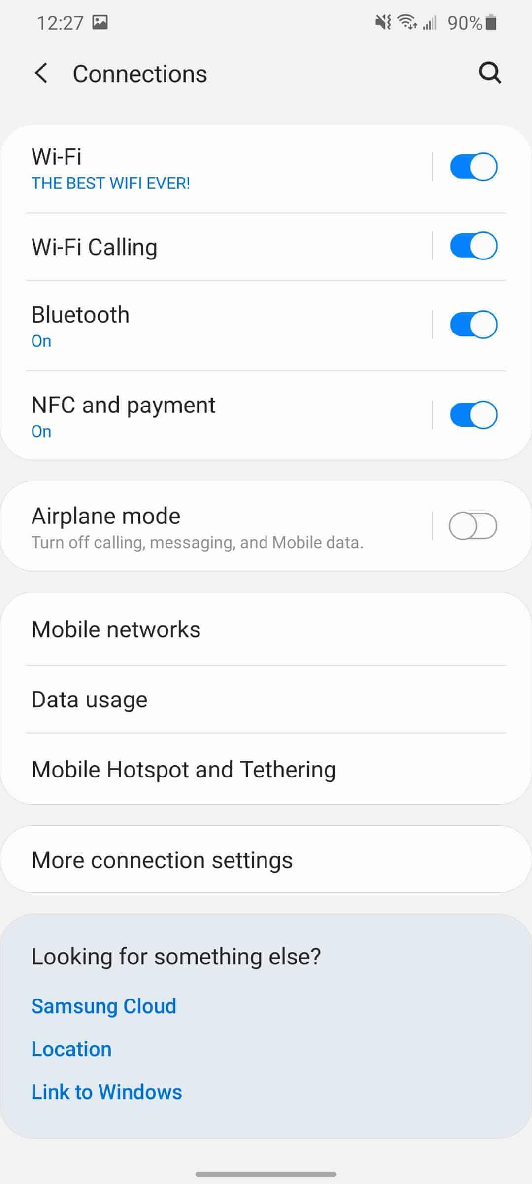 enable wifi calling s20