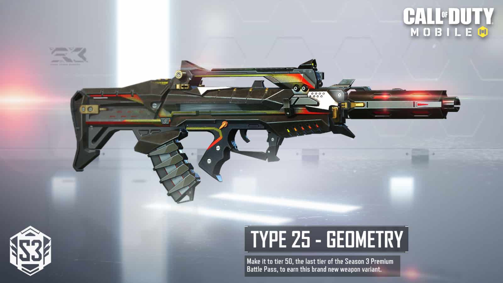 Call of Duty Mobile Type 25 Geometry