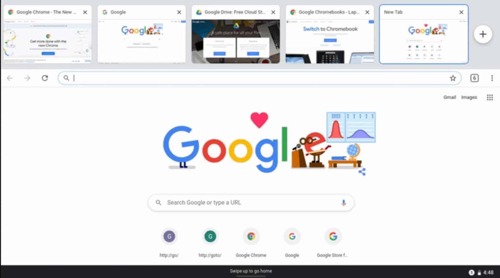 Chrome OS 81 presser gif screenshot