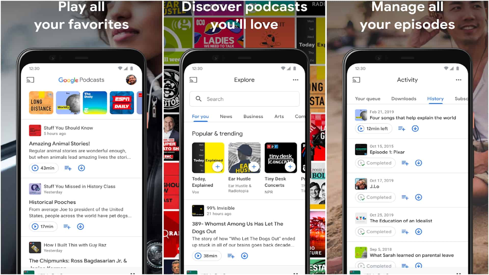 Google Podcasts app image April 2020