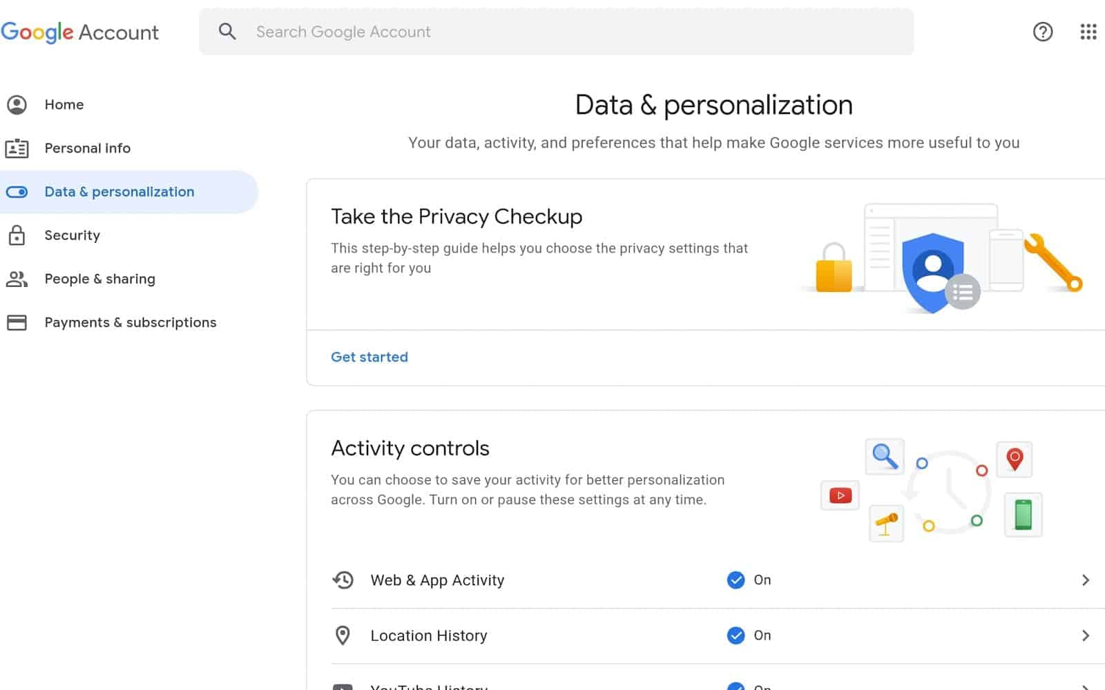 How to see manage google chrome data 04