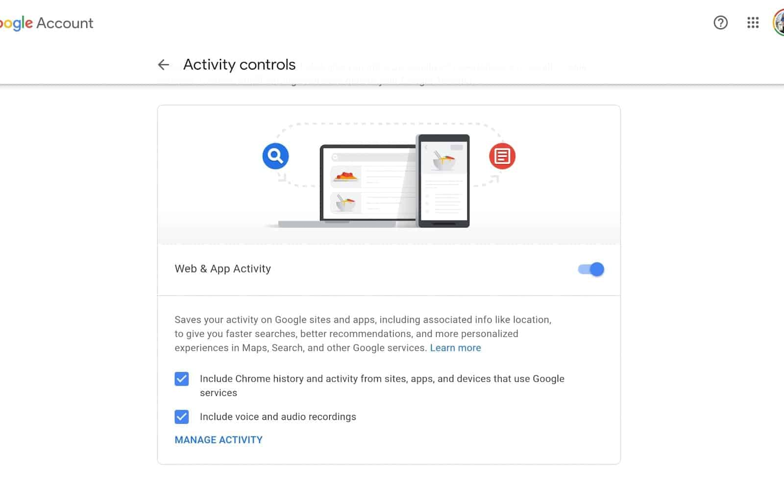 How to see manage google chrome data 04 2