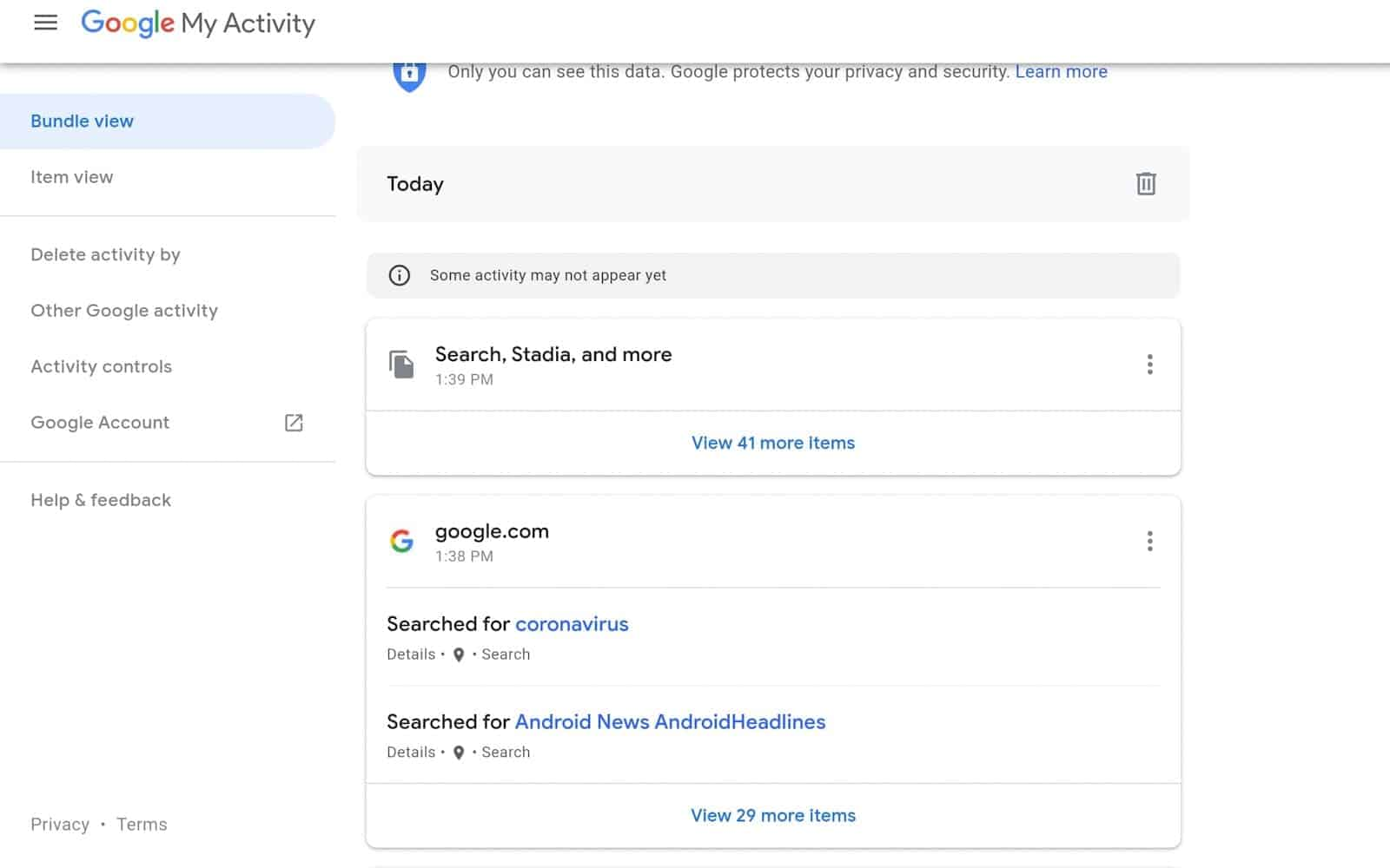 How to see manage google chrome data 04 7