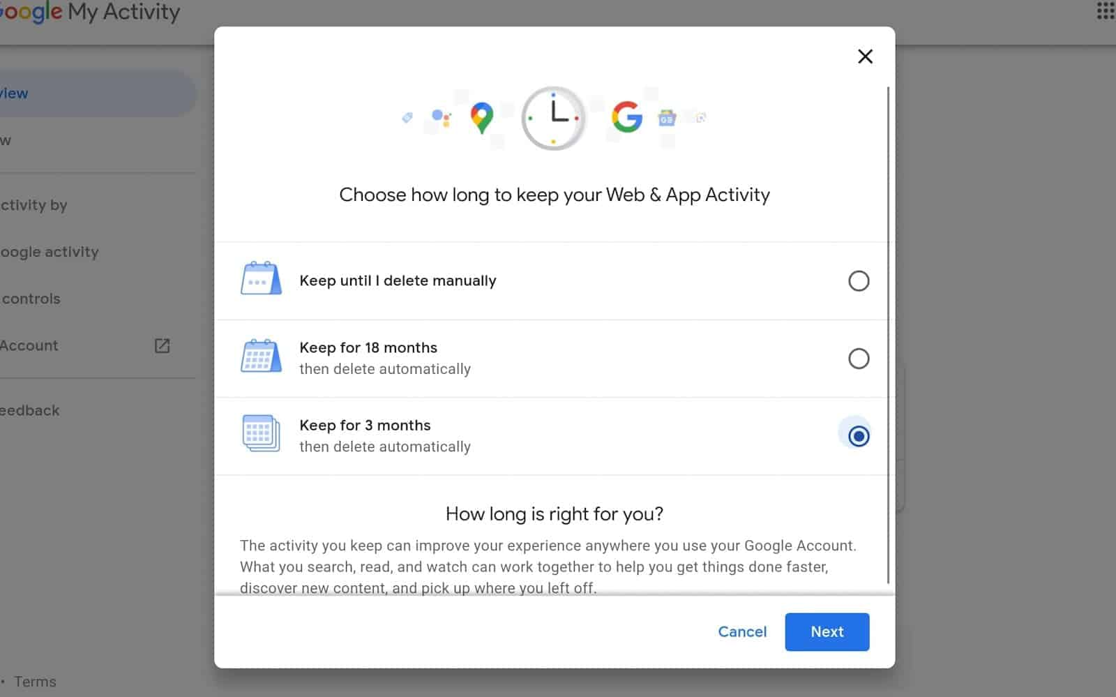 How to see manage google chrome data 04 8