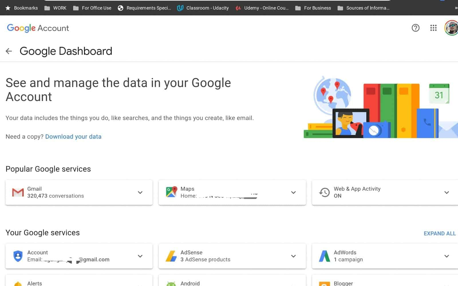 How to see manage google chrome data 06 1