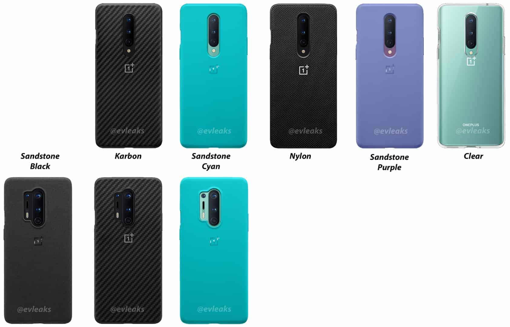OnePlus 8 series official cases leak Evan Blass
