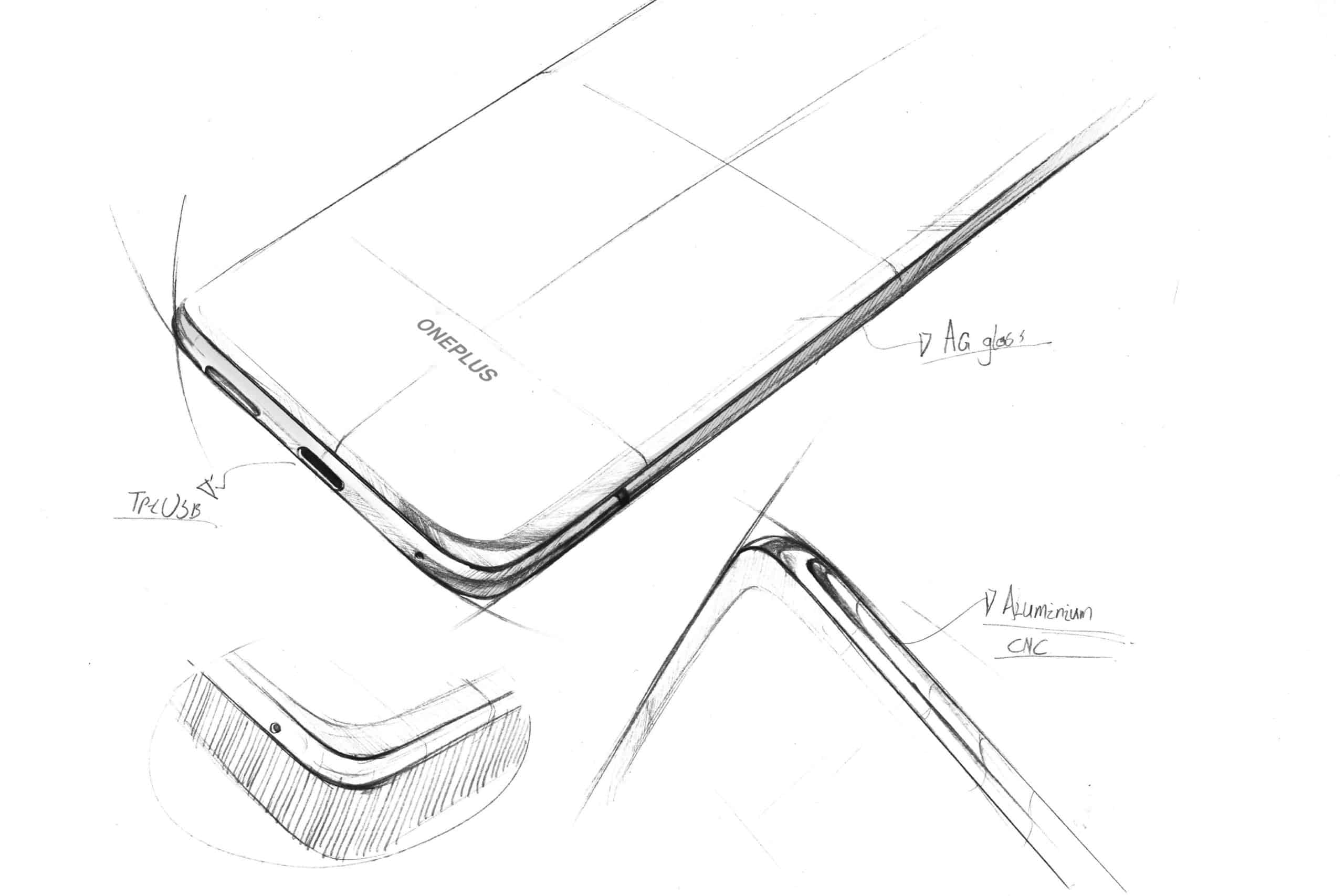 OnePlus 8 series official sketches 2
