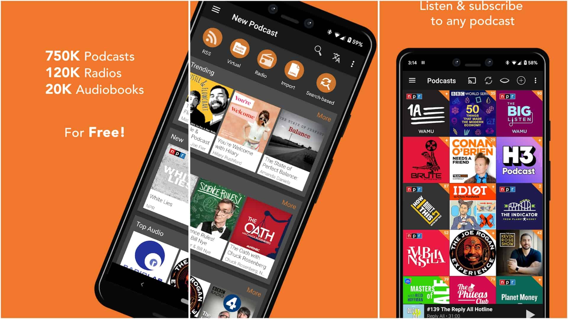 Podcast Addict app image April 2020