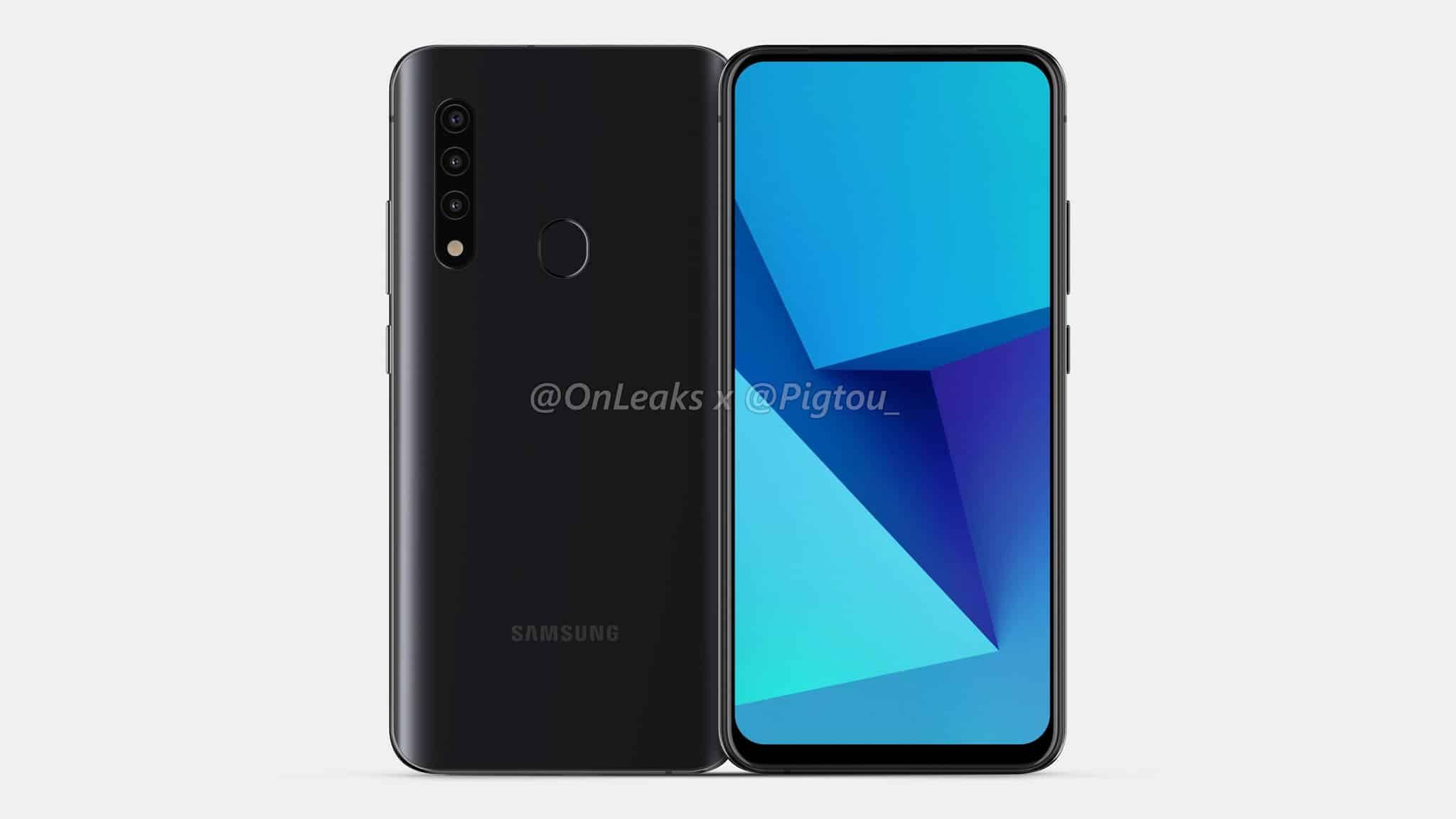 Samsung first smartphone pop up camera leak 1