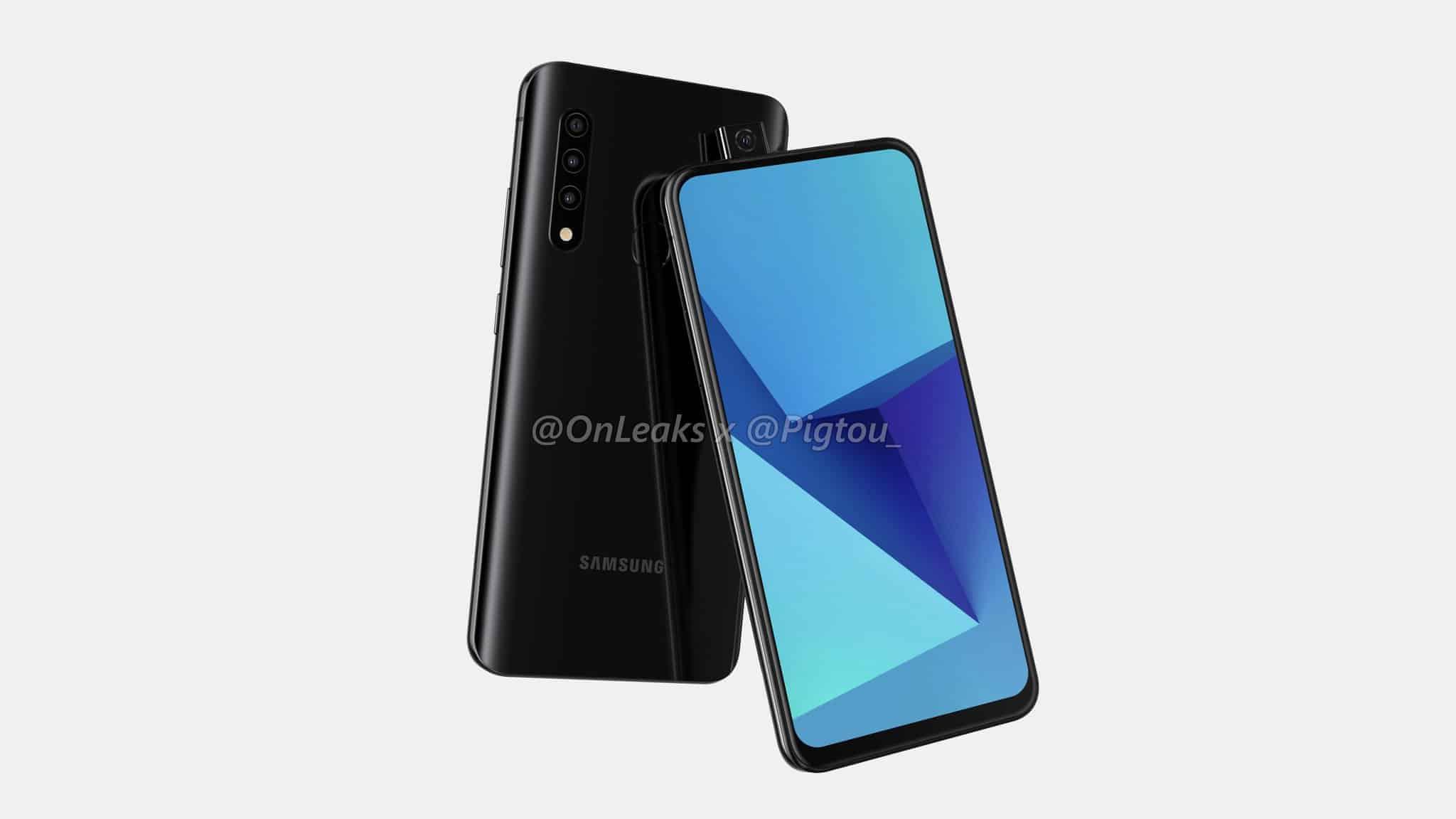 Samsung first smartphone pop up camera leak 2