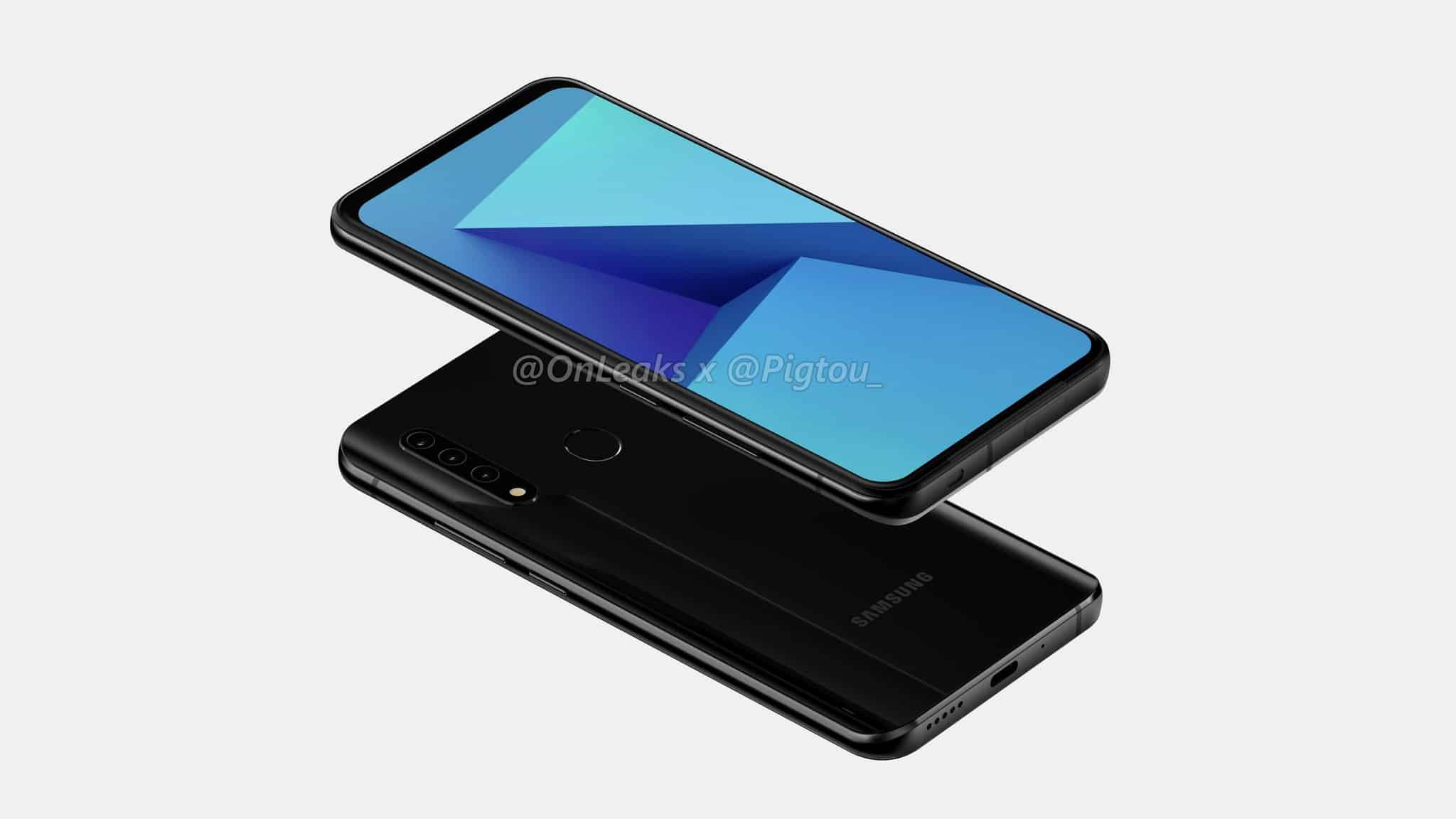 Samsung first smartphone pop up camera leak 3