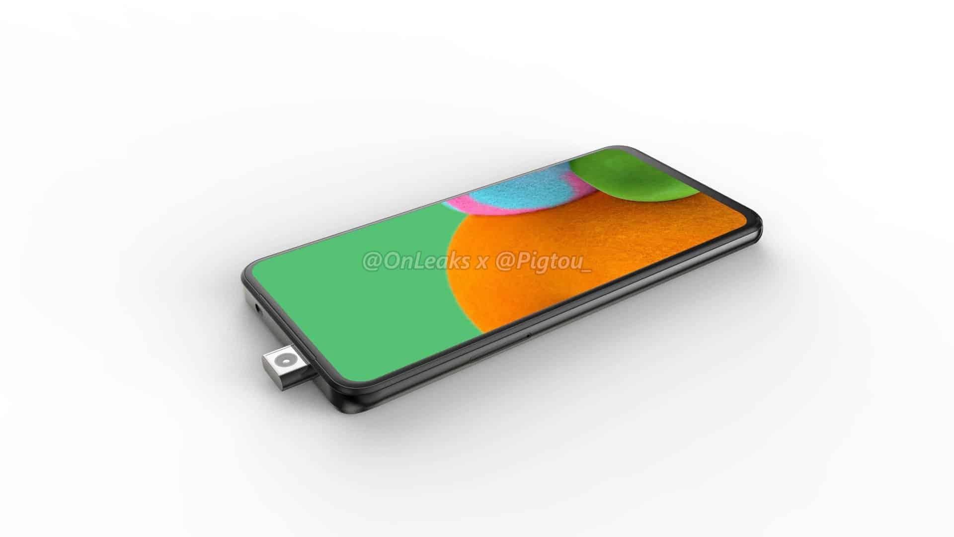 Samsung first smartphone pop up camera leak 4