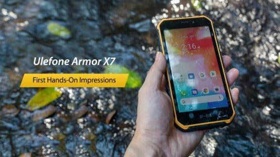 Ulefone Armor X7 hands on video