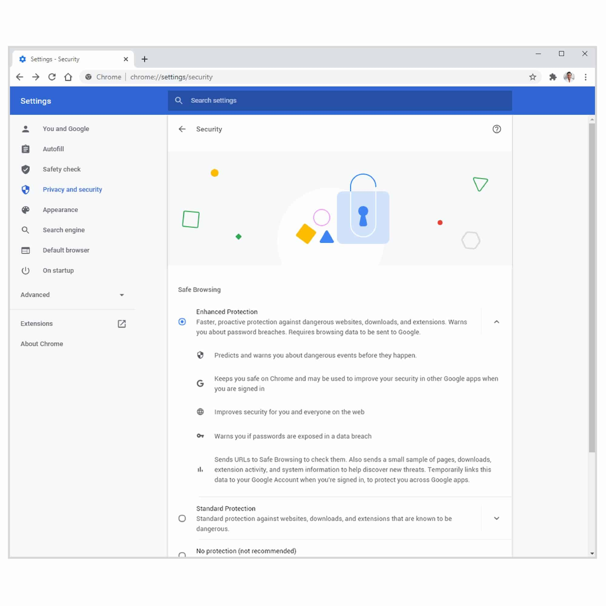 Chrome M83 Update 05 Enhanced Safe Browsing