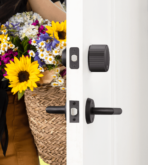 August Wi-Fi Smart Lock- MatteBlack- Flower Mom