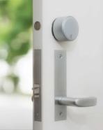 August Wi-Fi Smart Lock-Silver-WhiteDoor-RGB