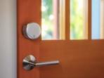 August Wi-Fi Smart Lock-Silver-WoodDoor-RGB