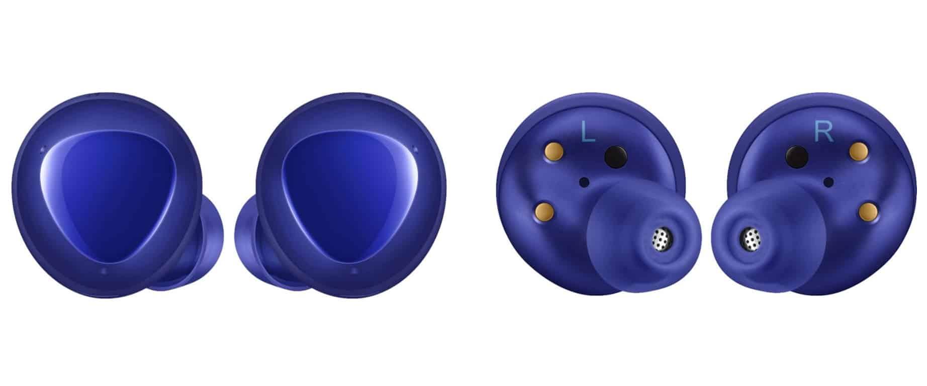 Aura Blue Galaxy Buds 1