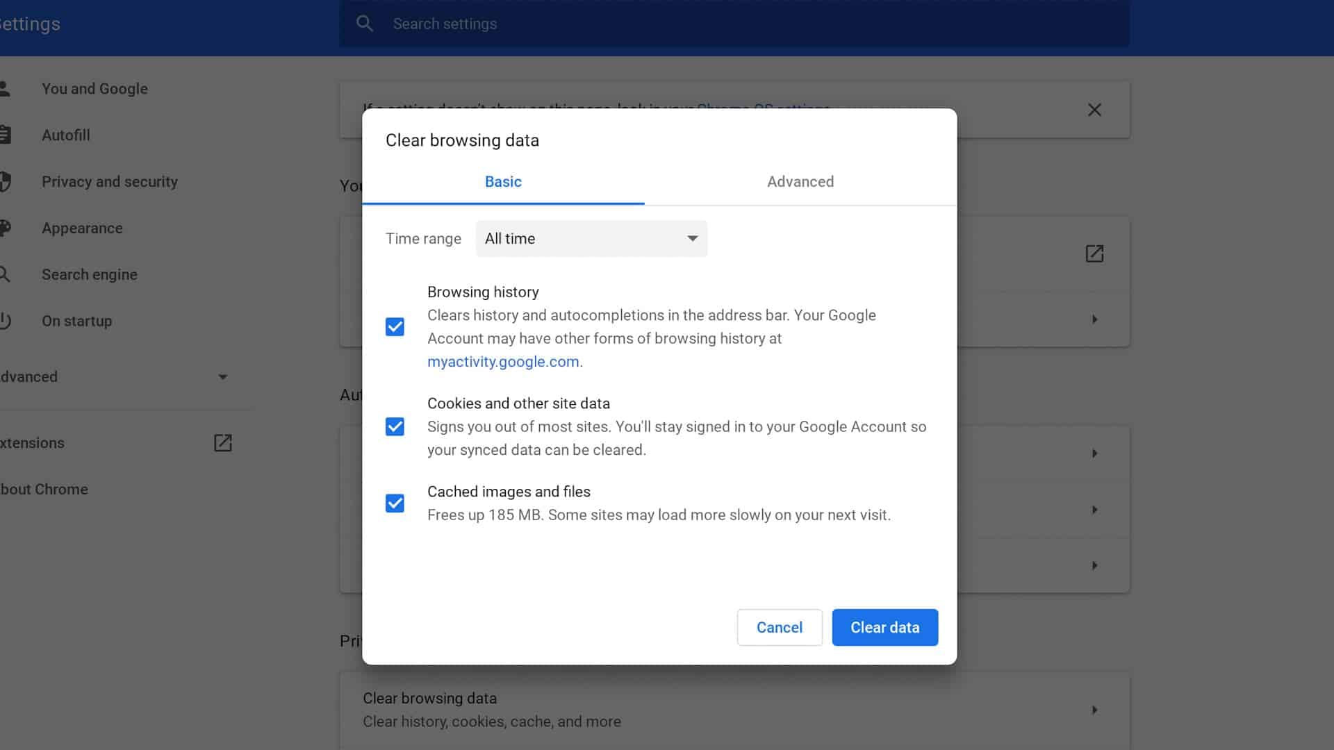 Chrome Clear Browser Data Shortcuts How To
