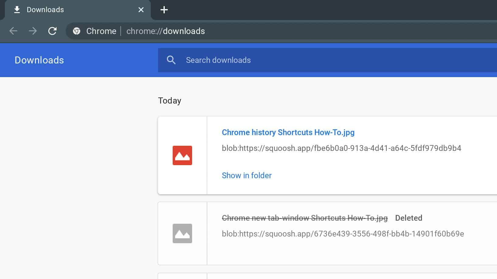 Chrome Downloads Shortcuts How To