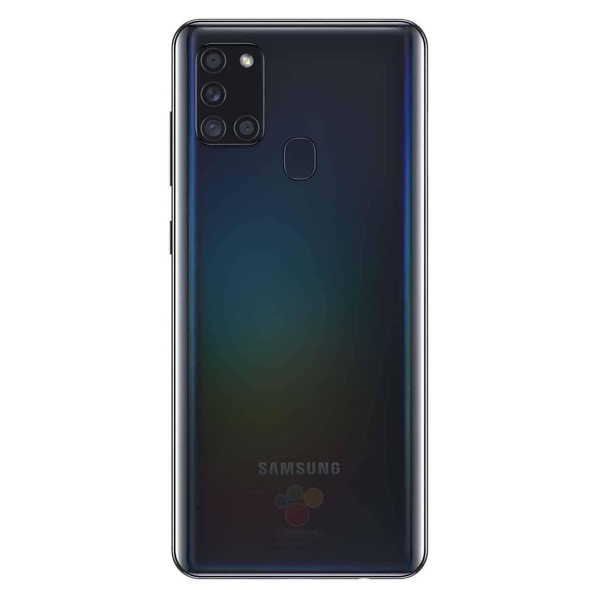Galaxy A21s black leak render image 1