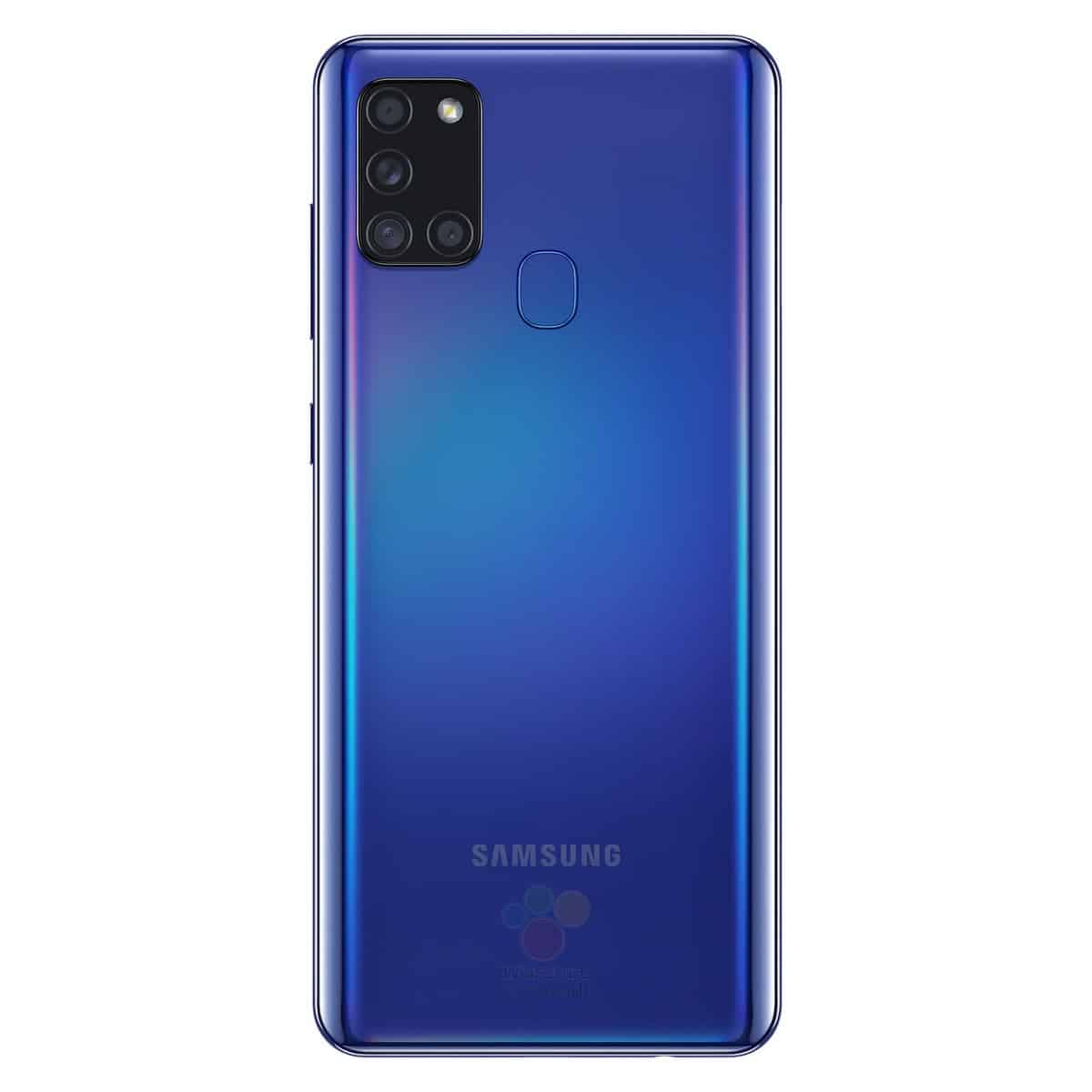 Galaxy A21s blue leak render image 1