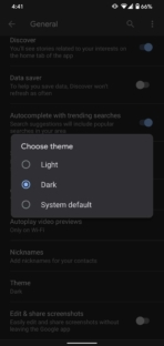 Google app dark mode (1)