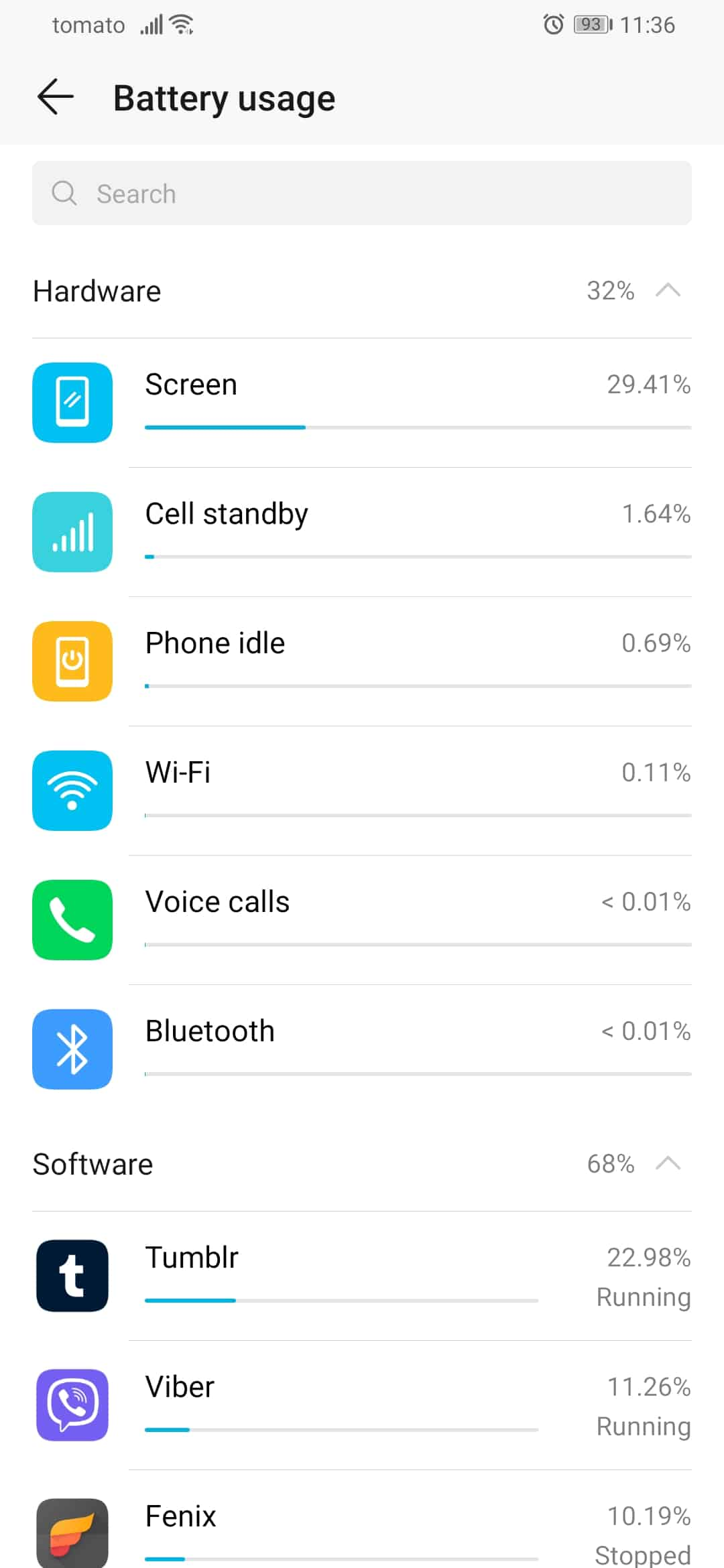 HONOR 9X Pro battery stats image 2
