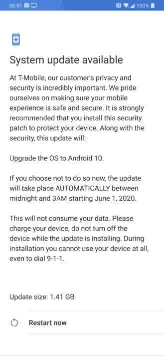 LG G7 ThinQ Android 10 update