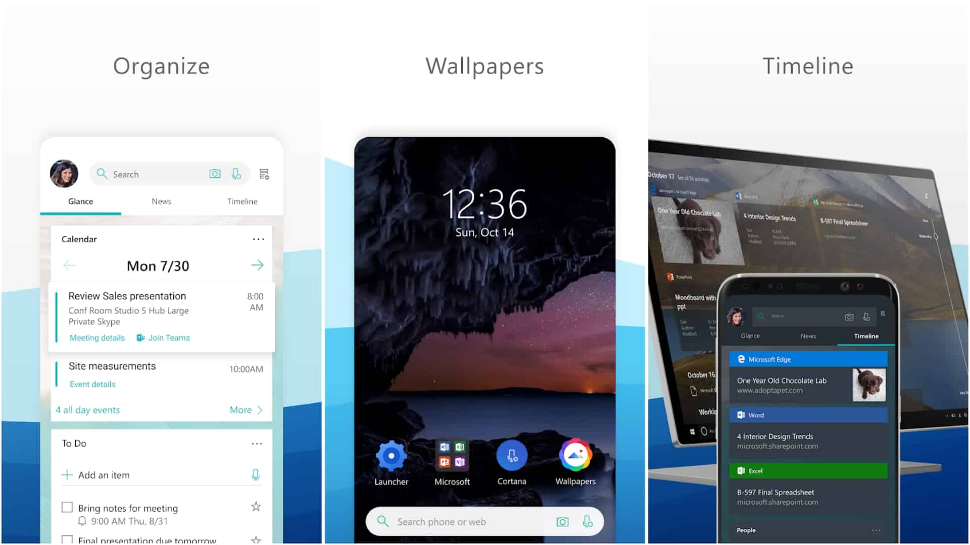 Microsoft Launcher app image May 2020