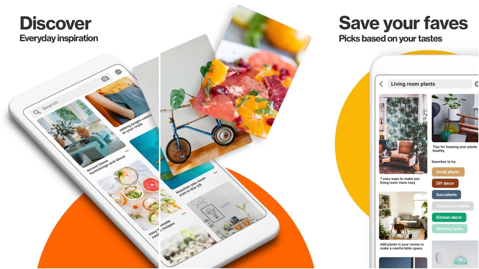 Pinterest app image May 2020