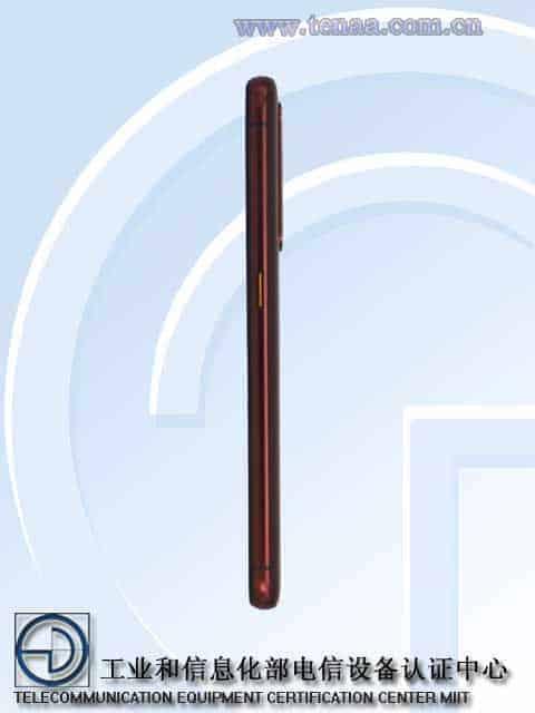 Realme X50 Pro Player Edition TENAA 4