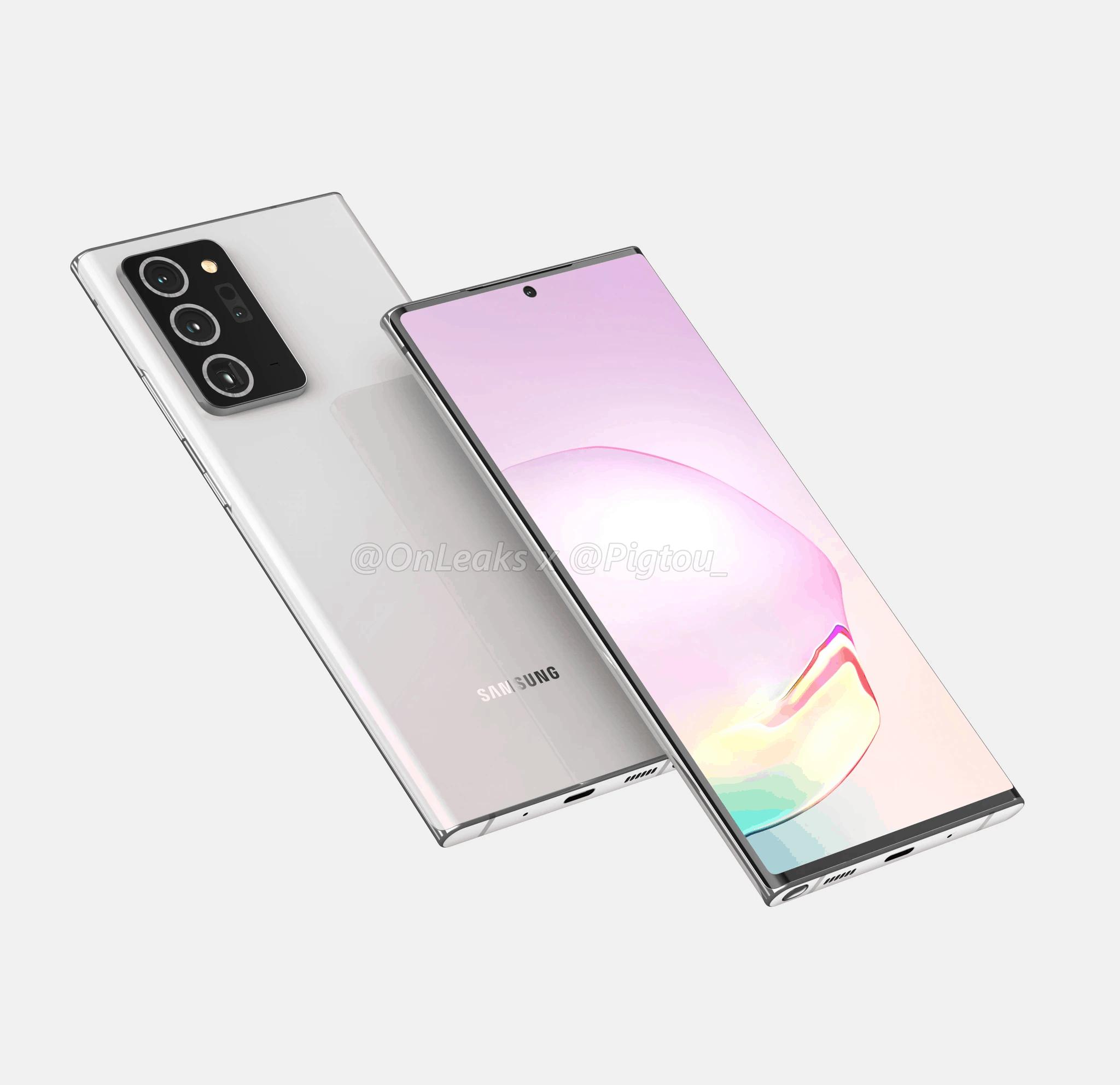Samsung Galaxy Note 20 Plus render leak 1