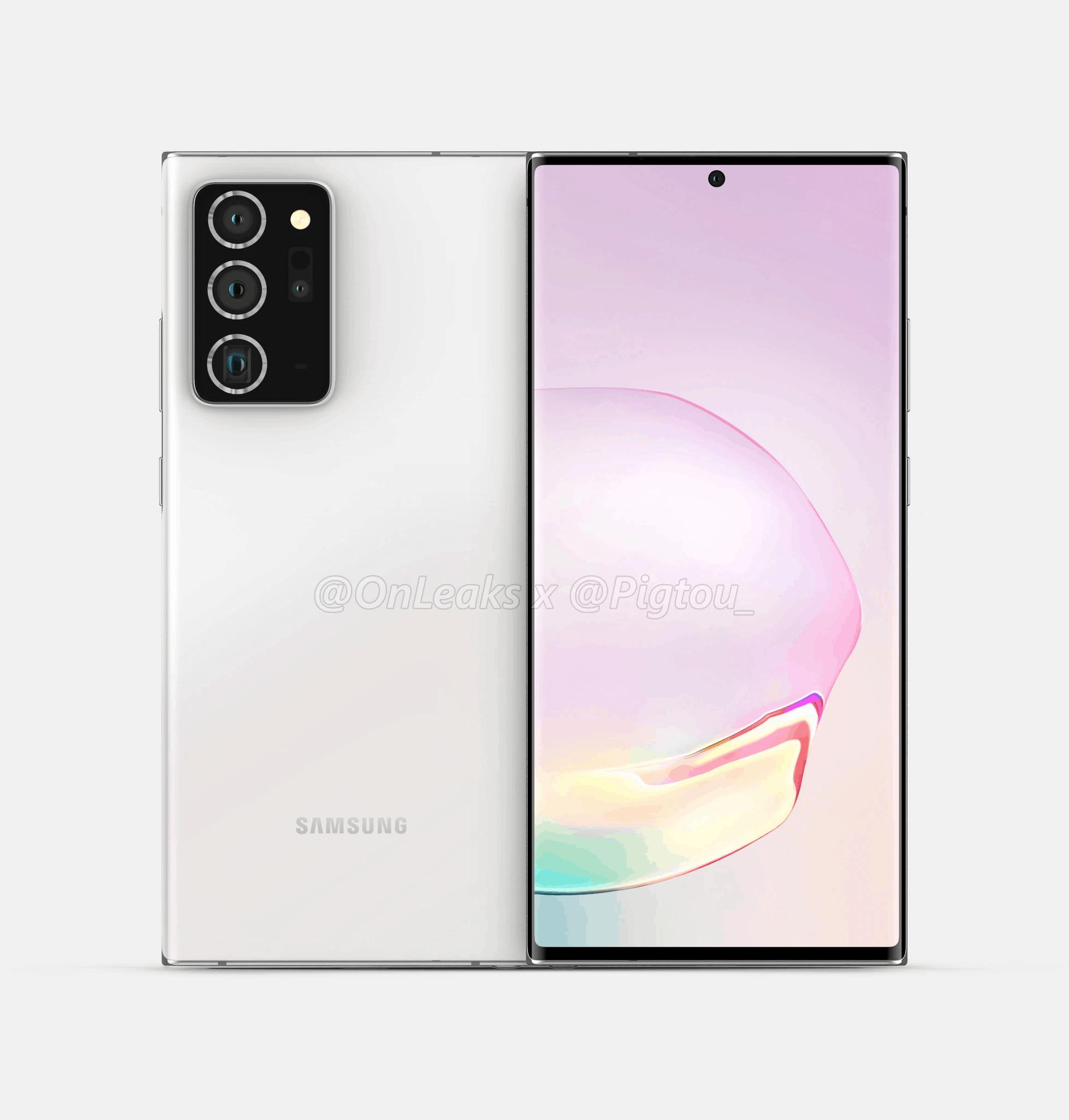 Samsung Galaxy Note 20 Plus render leak 2