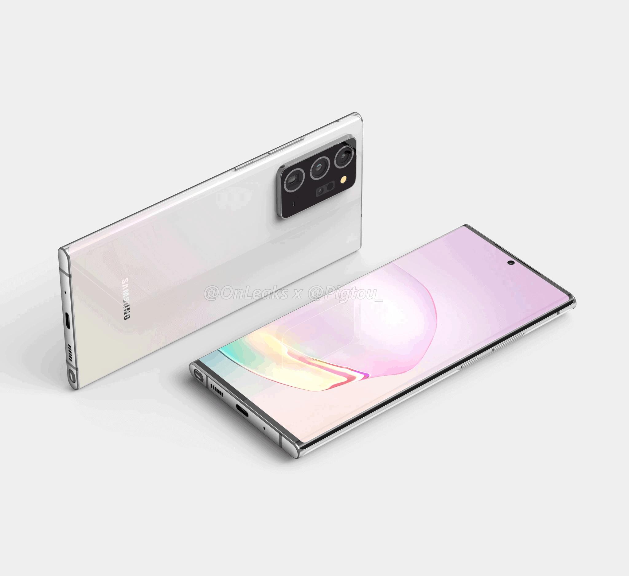 Samsung Galaxy Note 20 Plus render leak 3