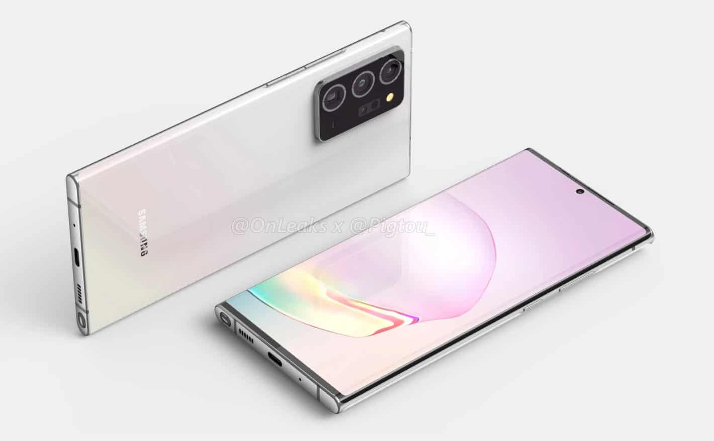 Samsung Galaxy Note 20 renders leaked online