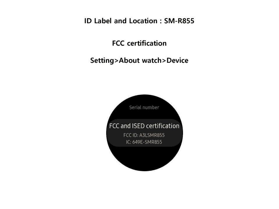 Samsung Galaxy Watch FCC 2