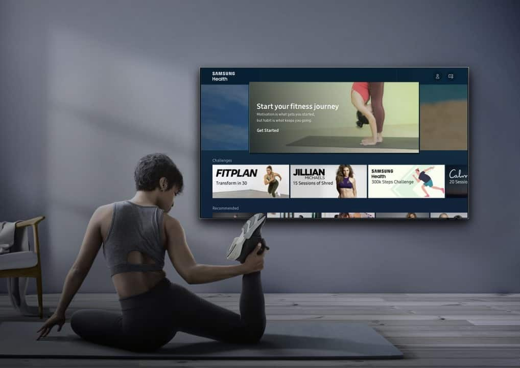 Samsung Health lands on 2020 Smart TVs