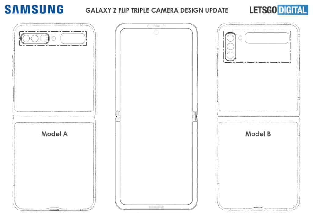 samsung galaxy z flip design patent